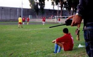 partita calcio carcere