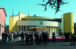 Inaugurazione nuova sede del Municipio di Cartura da parte del Ministro Giovanardi. Malaman.