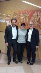Il Cup Manager Stefano Vianello, al centro la resp. Sistemi Informativi Silvia Baldan e, a destra, il Dg Gino Gumirato
