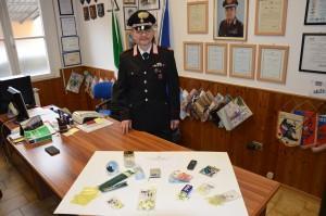 Fotografia sequestro stupefacente  carabinieri Rovigo