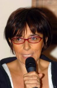 """Malaman Presentazione del libro di Beatrice Andreose """"il premio dei colli"""" al gabinetto di lettura di Este. Nella foto: l'autrice. ph. Zangirolami."""