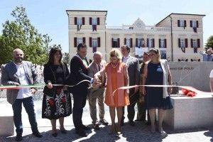 foto inaugurata nuova fontana giuliano de polo piazza scorze¦Ç