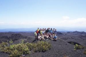 Giulia Angelini coi ragazzi di Intercultura ospiti in Ecuador, in visita alle Galapagos