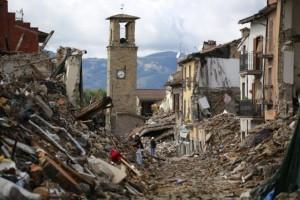 Sopralluogo ad Amatrice dopo il terremoto