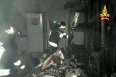 Vigili del fuoco all'opera