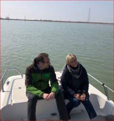 Federico Vianello con la conduttrice Donatella Bianchi