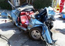 auto dopo l'incidente