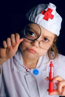 bambina in ospedale