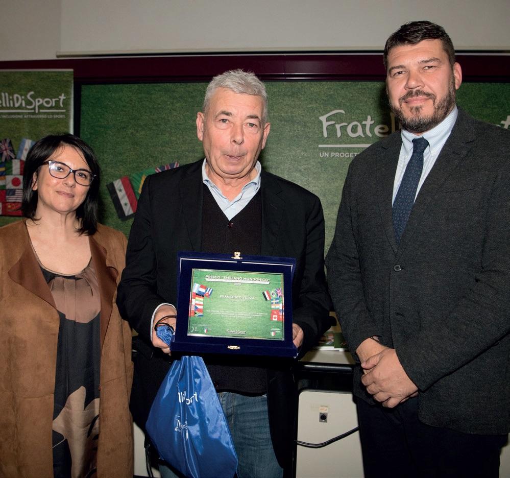 Il tecnico Francesco Verza e il suo premio