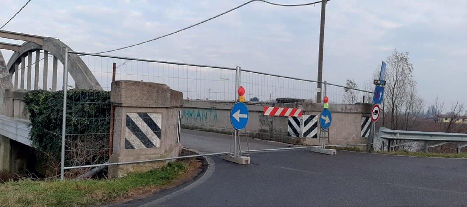 Chiuso per i lavori di restauro il ponte a Brenta d'Abbà