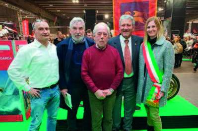 Un momento della premiazione a Luigi Bellon al Motorbike Expo di Verona