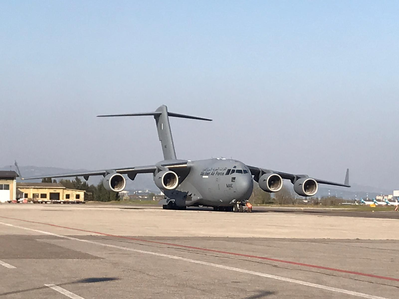 L'aereo dal Qatar