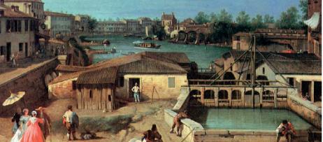 Le chiuse di Dolo, Canaletto