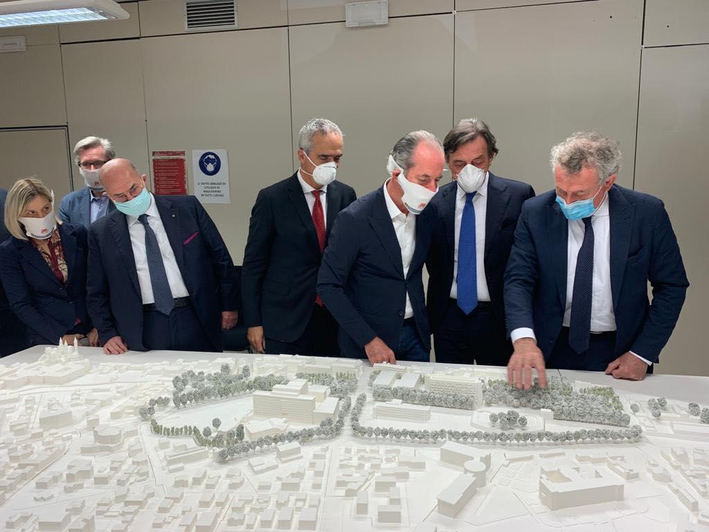 Il progetto del nuovo ospedale di Padova (foto dalla pagina facebook di Luca Zaia)