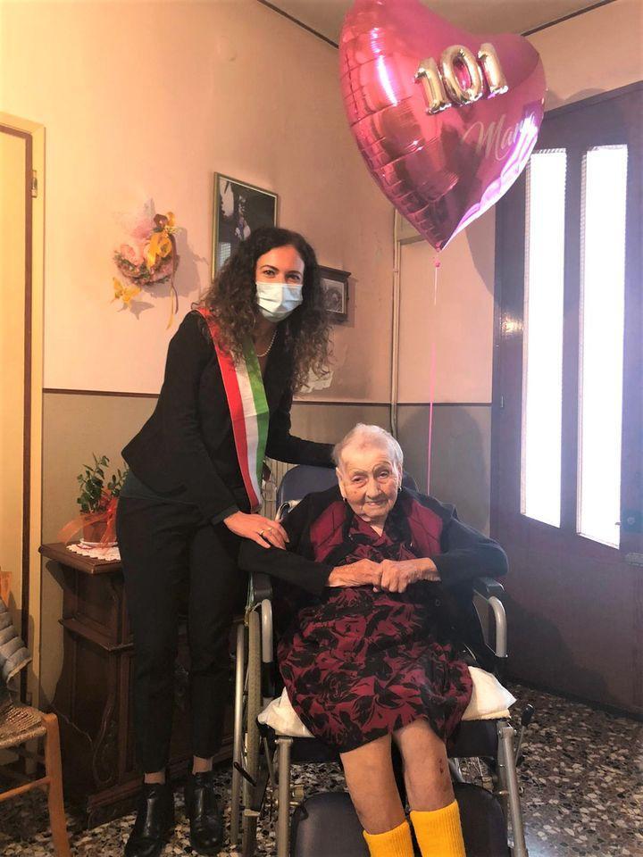 Maria Bilato e il sindaco