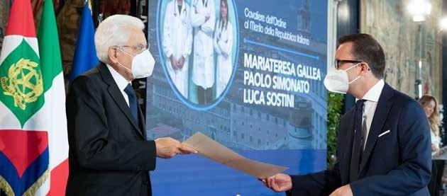 Sostini con Mattarella alla consegna dell'onorificenza