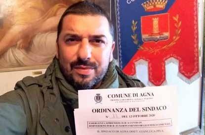 Il sindaco Gianluca Piva con la nuova ordinanza
