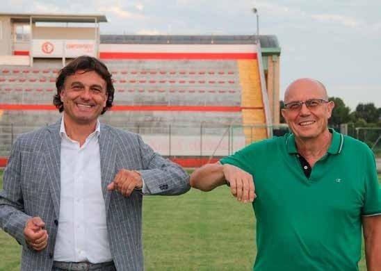 Il sindaco Valter Gallo con il vicesindaco e assessore ai Lavori pubblici Mario Pistore