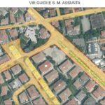 Le zone di Guizza in cui verranno rifatti i marciapiedi