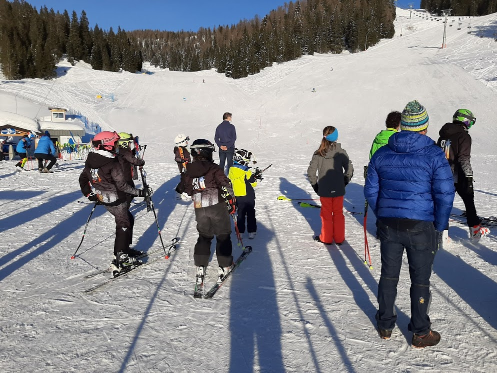 giovanissimi sciatori al Verena
