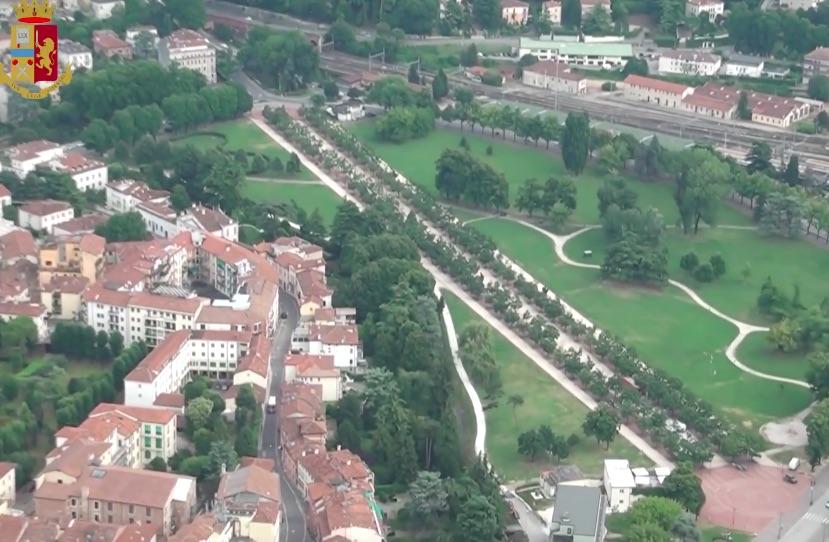 campo marzo a Vicenza dall'alto