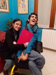 Arianna e Alessandro con la tesi
