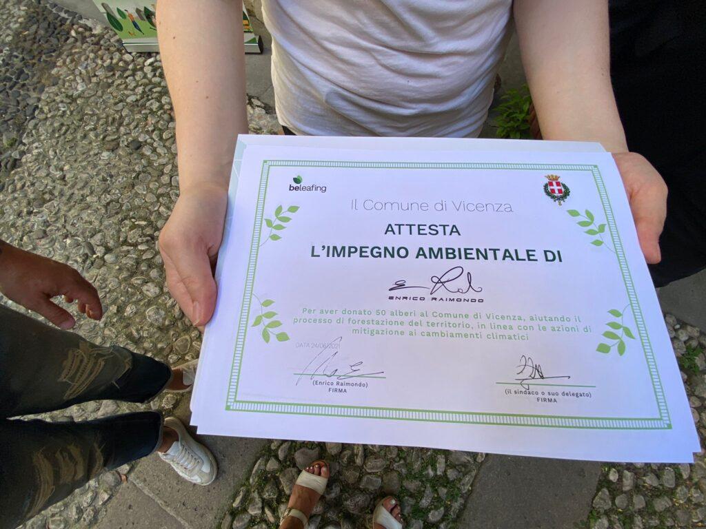 50 piante in dono a Vicenza città