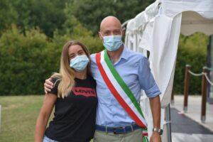 Anna Porcari e il sindaco Paolo Galeano (Fonte: Facebook)