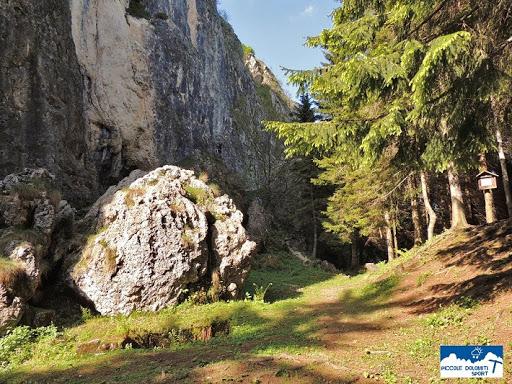 la falesia Piccole Dolomiti sul Cornetto