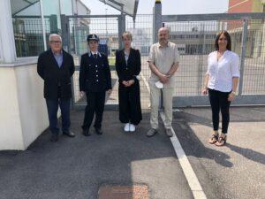 Laura Cestari in visita al carcere di Rovigo
