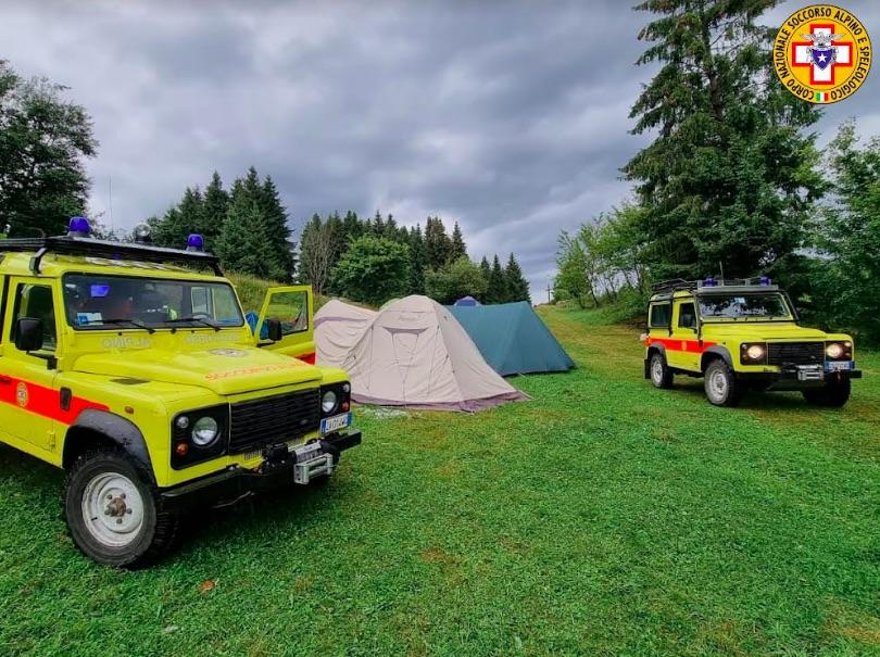 campo scout investito dal maltempo