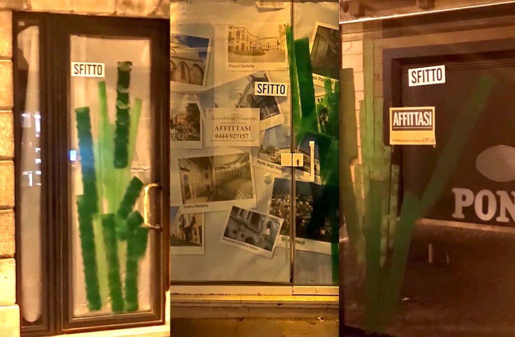 tre negozi sfitti segnati da Freaks of nature