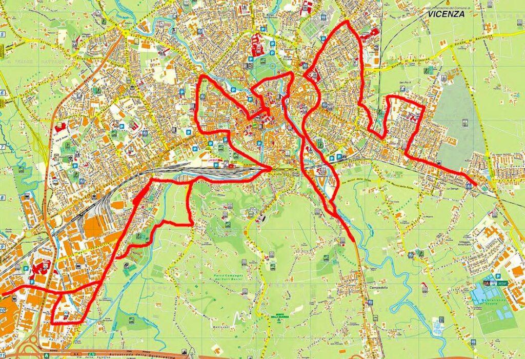 30 km in bici per il pums di vicenza
