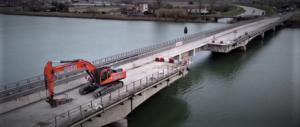 Lavori sulla Romea, ponte sul Brenta