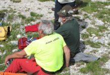 alpini in sosta sull'Ortigara nel 2017 luglio per raduno annuale