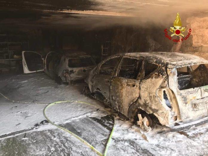 garage in fiamme a Marano Vicentino