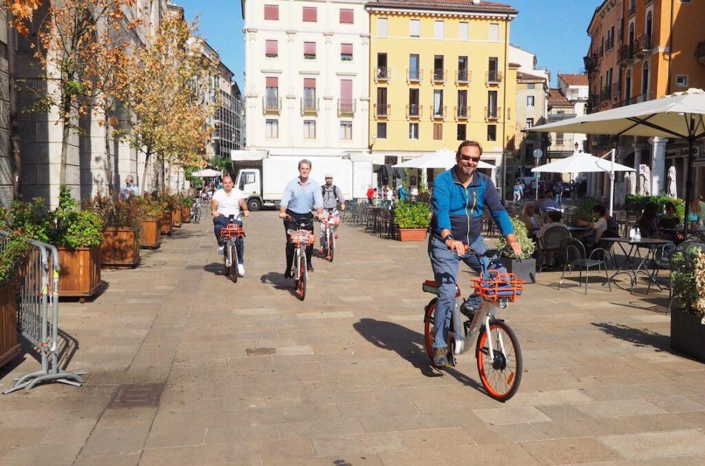 professori in bici per il PUMS a Vicenza