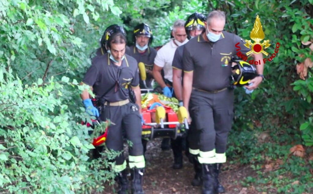 soccorso ciclista a Monte San Lorenzo