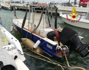 La barca affondata